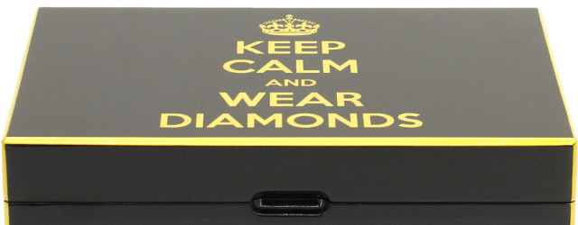 Cofanetto portagioie Keep Calm and wear diamonds