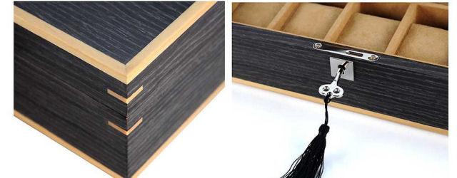 Portaorologi10 posti in legno con intarsio