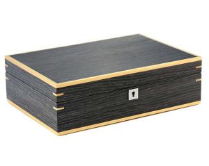 Portaorologi 10 posti in legno con intarsio Noce scuro